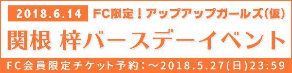 TICKET:関根 梓バースデーイベント